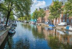 Город Амстердам Стоковое Изображение RF