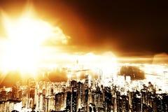 город апокалипсиса Стоковые Изображения RF