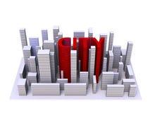 город архитектуры иллюстрации 3d Стоковая Фотография RF