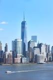 города зданий предпосылки горизонт york неба manhattan голубого высокий новый Стоковое Изображение