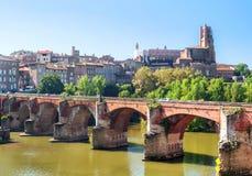 Город Альби средневековый в Франции Стоковые Изображения RF