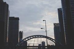 Город Бангкока, выравниваясь Стоковое Фото
