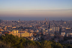 Город Барселоны, Испания стоковые изображения rf