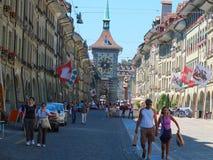 Город Берна, Швейцарии Стоковое Изображение