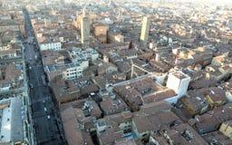 Город болонья от башни Италии ASINELLI Стоковые Фотографии RF