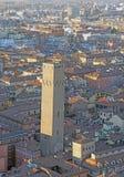 Город болонья от башни Италии ASINELLI Стоковые Изображения