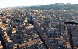 Город болонья от башни Италии ASINELLI Стоковая Фотография