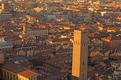 Город болонья от башни Италии ASINELLI Стоковое Изображение RF