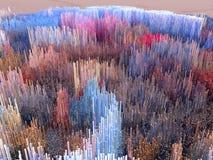 Город будущего, небоскребы, научная фантастика Стоковая Фотография RF