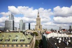 Город Варшавы, Польша Стоковое Фото