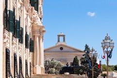 Город Валлетты Мальты исторический Стоковое Фото