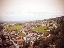 Город Вадуц, княжество Лихтенштейна Стоковые Изображения RF