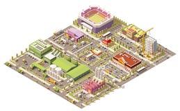 Город вектора равновеликий низкий поли бесплатная иллюстрация