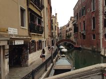 Город Венеции Италии в воде Стоковая Фотография