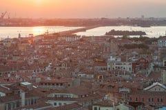 Город Венеции от колокольни ` s StMark Стоковое Фото