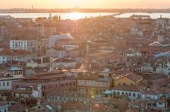 Город Венеции от колокольни ` s StMark Стоковое фото RF