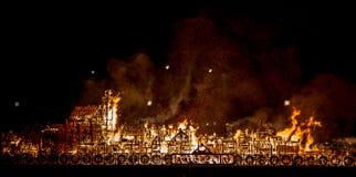 Город Великобритания Лондона огня Стоковые Фото