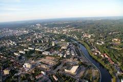 Город Вильнюса Литвы, вида с воздуха Стоковые Фотографии RF