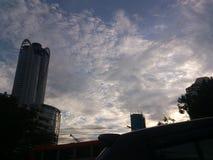 Город в вечере Стоковые Изображения RF