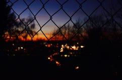 Город в заходе солнца Стоковые Фотографии RF