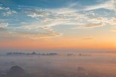 Город в небе Стоковое Фото
