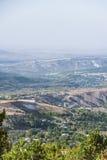 Город в долине горы Стоковое фото RF