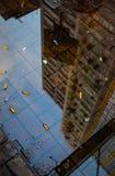Город в лужице Стоковое Фото