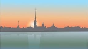 Город в утре Стоковая Фотография