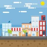 Город в утре Стоковые Фотографии RF
