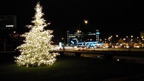 Город в nighttime стоковые фото