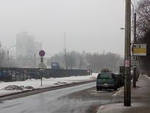 Город в tymane Стоковое Изображение