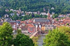 Город Гейдельберга стоковая фотография rf