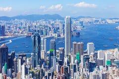 Город Гонконга городской стоковое фото rf