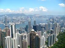 Город Гонконга от пика Стоковая Фотография