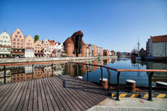 Город горизонта городка Гданьска старого Стоковая Фотография RF
