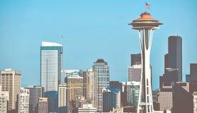 Город горизонта Сиэтл Стоковое Изображение