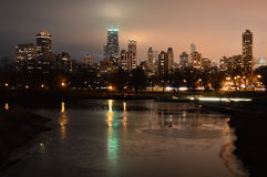Город горизонта Чiкаго Стоковое фото RF