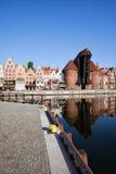 Город городского пейзажа Гданьска в Польше Стоковое Изображение
