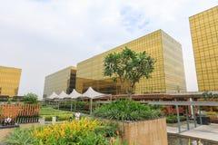 Город гостиницы, казино, и торгового комплекса Манилы мечт Стоковое фото RF