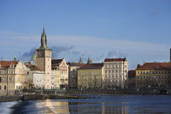 Город голубого неба Праги Стоковые Фотографии RF