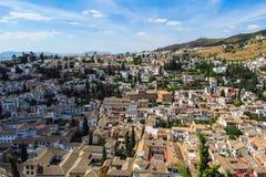 Город Гранады в Испании Стоковые Фотографии RF