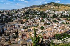 Город Гранады в Испании Стоковое фото RF