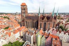 Город Гданьска в Польше Стоковые Изображения RF