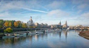 Город Дрездена в осени Стоковое фото RF