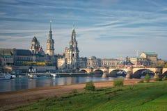 Город Дрездена в осени Стоковое Изображение
