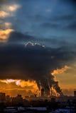 Город Дым от труб Стоковые Фотографии RF