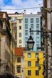 Город живя в Лиссабоне Португалии стоковое фото rf