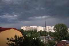 город заволакивает темнота сверх Стоковое фото RF
