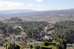 Город замка Orem средневековый, Португалия Стоковое Изображение RF