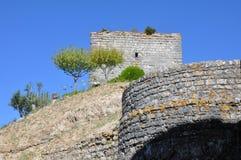 Город замка Orem средневековый, Португалия Стоковая Фотография